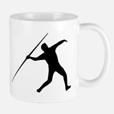 Javelin Throw Silhouette Mugs