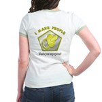 I make People (OnBack) Jr. Ringer T-Shirt