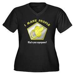 I make People Women's Plus Size V-Neck Dark T-Shir