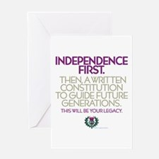 First Indy Greeting Card