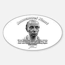 Immanuel Kant 01 Oval Decal