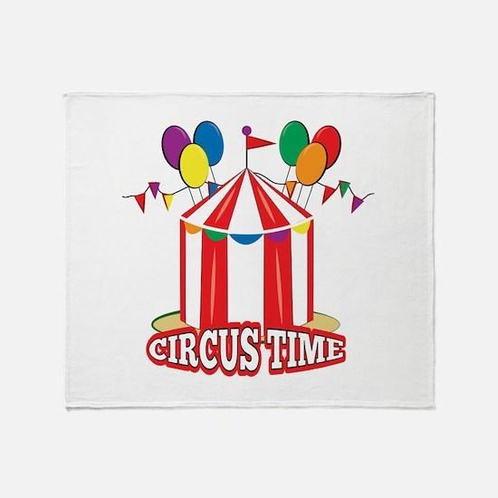 Circus Time Throw Blanket