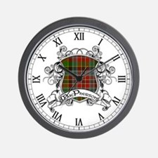 MacPherson Tartan Shield Wall Clock