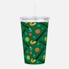 Field Hockey Sports Acrylic Double-wall Tumbler