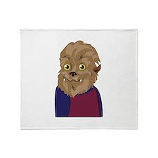Werewolf Man Throw Blanket
