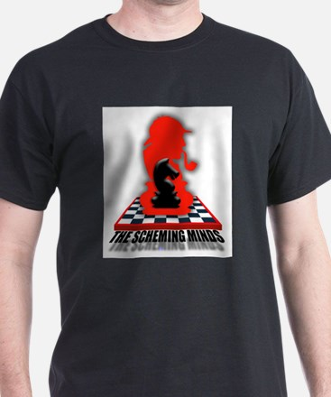 Scheming Minds Black Knigh T-Shirt