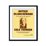 Wanted Cole Younger Framed Panel Print