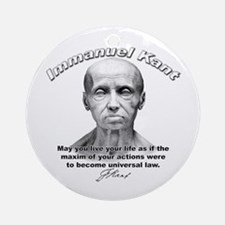 Immanuel Kant 01 Ornament (Round)