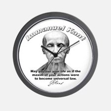 Immanuel Kant 01 Wall Clock