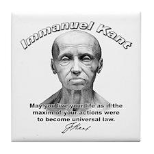 Immanuel Kant 01 Tile Coaster