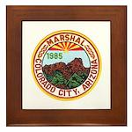 Colorado City Marshal Framed Tile
