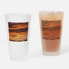 Flaming Sky Drinking Glass
