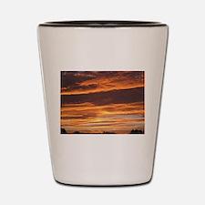 Flaming Sky Shot Glass