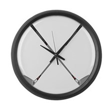 Crossed Clubs Large Wall Clock