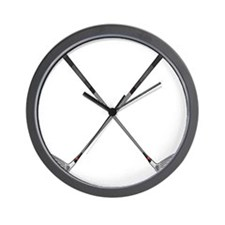 Crossed Clubs Wall Clock