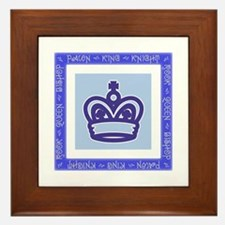Chessman Showcase - The King Framed Tile