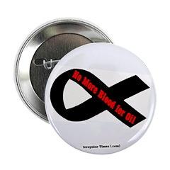 No Blood for Oil Black Ribbon Button