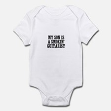 my son is a smokin' guitarist Infant Bodysuit
