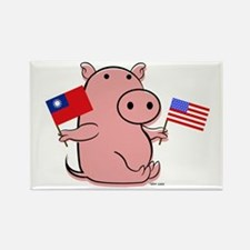 USA AND THAILAND Rectangle Magnet
