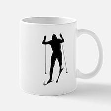 Cross Country Skier Silhouette Mugs