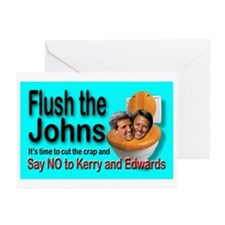 Flush the Johns Anti Kerry Greeting Cards (6)