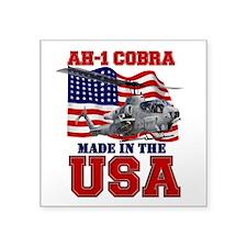 "AH-1 Cobra Square Sticker 3"" x 3"""