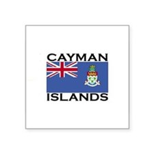 caymanislandsflgwht Sticker