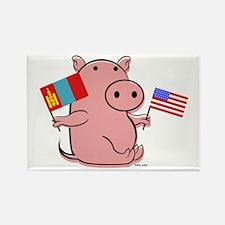 USA AND MONGOLIA Rectangle Magnet