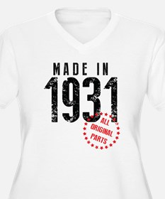 Made In 1931 All Original Parts Plus Size T-Shirt