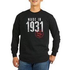 Made In 1931 All Original Parts Long Sleeve T-Shir
