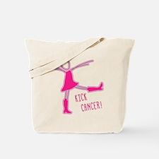 PINK COWBOY BOOTS KICK CANCER Tote Bag