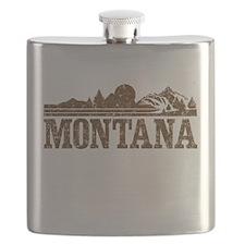 Vintage Montana Mountains Flask