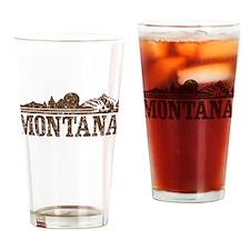 Vintage Montana Mountains Drinking Glass