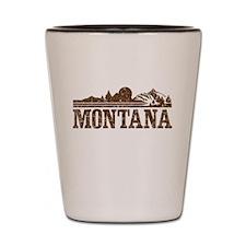Vintage Montana Mountains Shot Glass