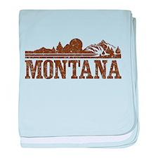 Vintage Montana Mountains baby blanket