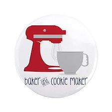 "Baker Cookie 3.5"" Button"