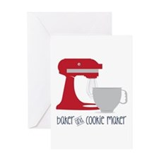Baker Cookie Greeting Cards