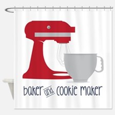 Baker Cookie Shower Curtain