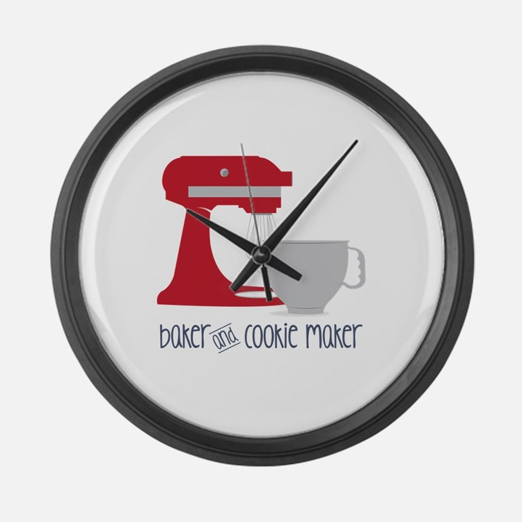 Baker Cookie Large Wall Clock