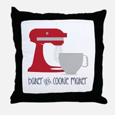 Baker Cookie Throw Pillow