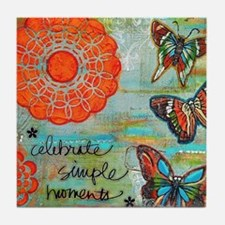 Celebrate Simple Moments Tile Coaster