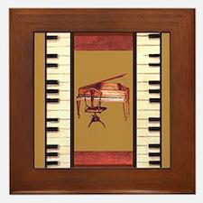 Cute Music lover Framed Tile