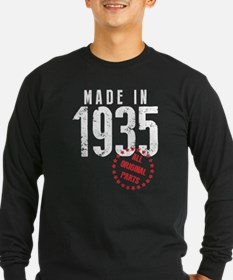 Made In 1935 All Original Parts Long Sleeve T-Shir