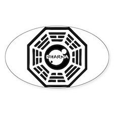 Dharma Hatch Oval Decal