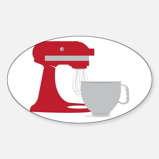 Red Stand Mixer Decal