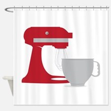 Red Stand Mixer Shower Curtain