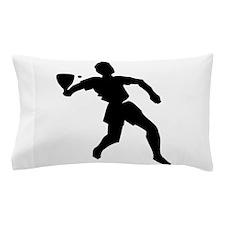 Racquetball Player Silhouette Pillow Case