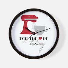 Love Of Baking Wall Clock
