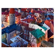 Old Town Of Tallinn Estonia Poster