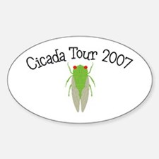 Cicada Tour 2007 Oval Decal
